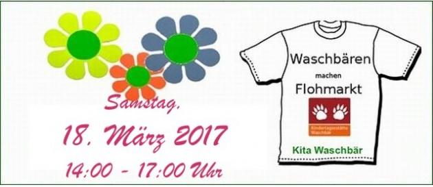 2017 03 18 Flohmarkt Kita Waschbaer
