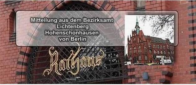 Lichtenberg Mitteilung Bezirksamt