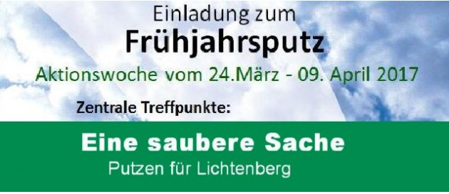 Lichtenberg putz Tag 1